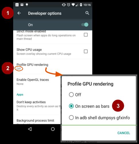 4 1A: Using the Profile GPU Rendering tool · GitBook