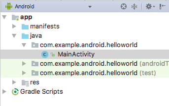 android application code example
