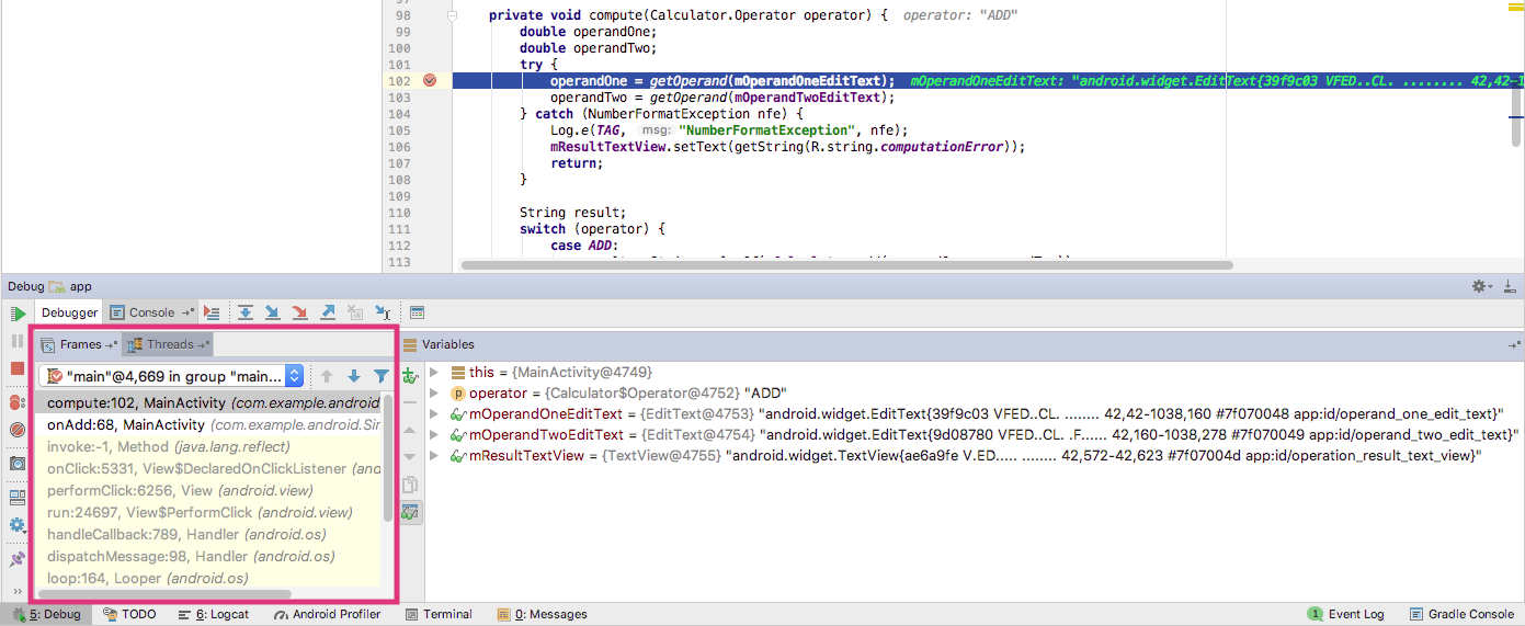 3.1: The Android Studio debugger · GitBook