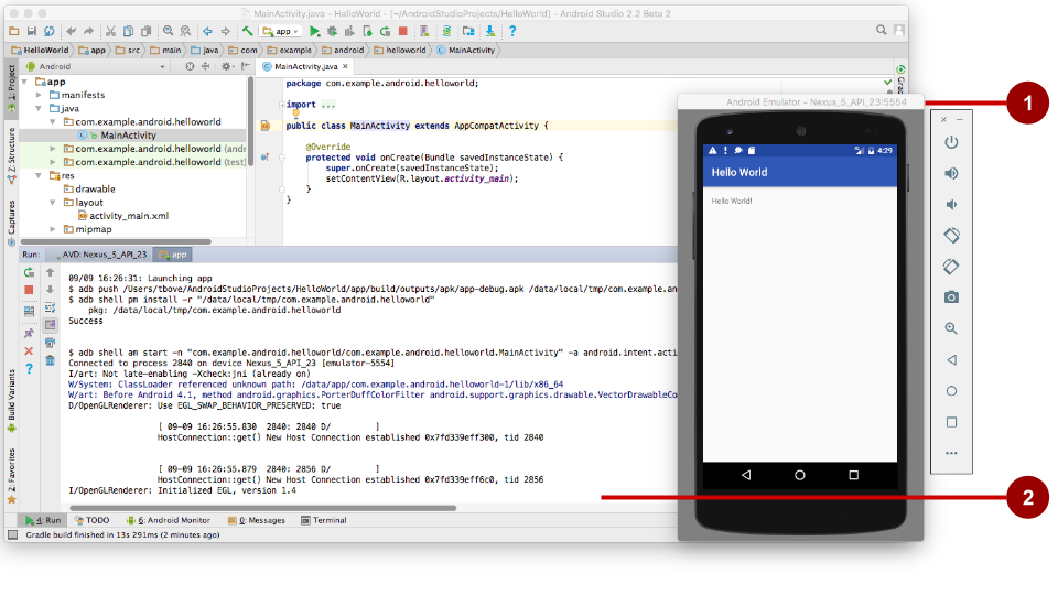 1 1: Create Your First Android App · GitBook